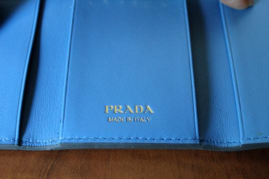Prada NEW Prada Saffiano leather wallet with bow Image 8