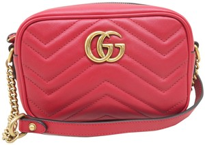 Gucci Marmont Mini Calfskin Cross Body Bag