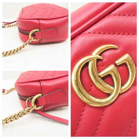 Gucci Marmont Mini Calfskin Cross Body Bag Image 6