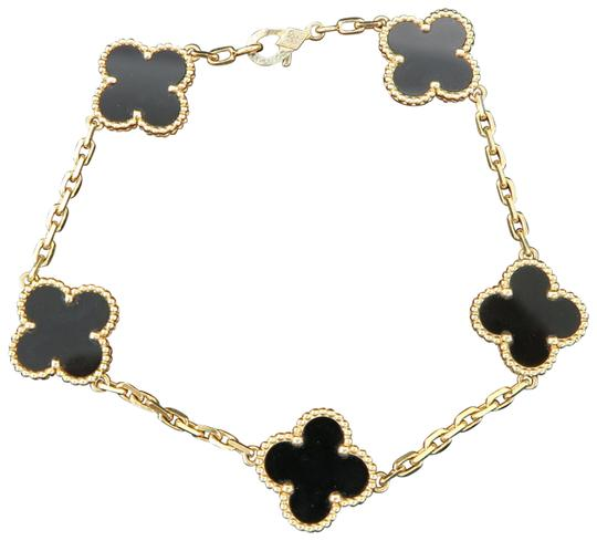 Preload https://img-static.tradesy.com/item/25922086/van-cleef-and-arpels-yellow-gold-vintage-alhambra-5-motif-onyx-bracelet-necklace-0-3-540-540.jpg