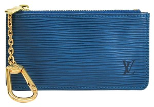 Louis Vuitton Louis Vuitton Epi Key Pouch M63805 Women's Epi Leather Coin Purse/coin Case Toledo Blue