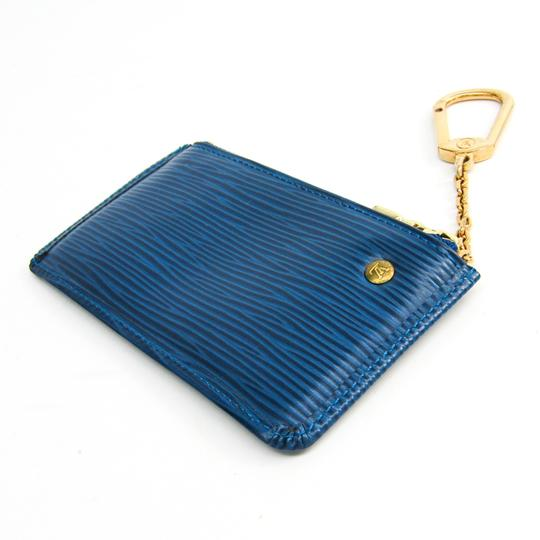 Louis Vuitton Louis Vuitton Epi Key Pouch M63805 Women's Epi Leather Coin Purse/coin Case Toledo Blue Image 1