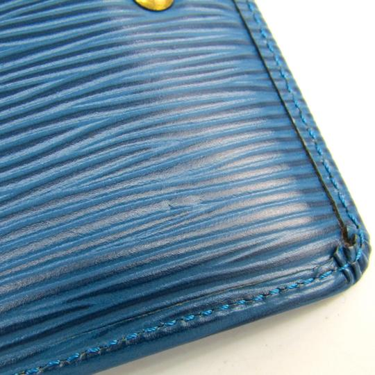 Louis Vuitton Louis Vuitton Epi Key Pouch M63805 Women's Epi Leather Coin Purse/coin Case Toledo Blue Image 3