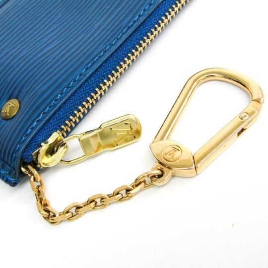 Louis Vuitton Louis Vuitton Epi Key Pouch M63805 Women's Epi Leather Coin Purse/coin Case Toledo Blue Image 5