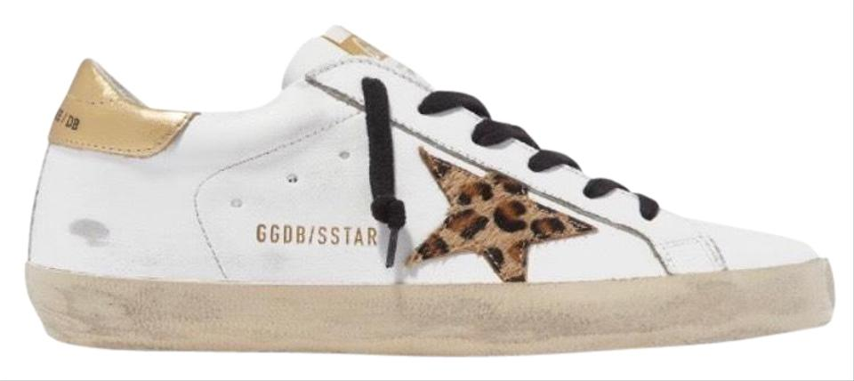 Leopard Distressed Leather Sneakers