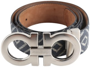 Salvatore Ferragamo Salvatore Ferragamo Gancini Diamond Pattern Belt