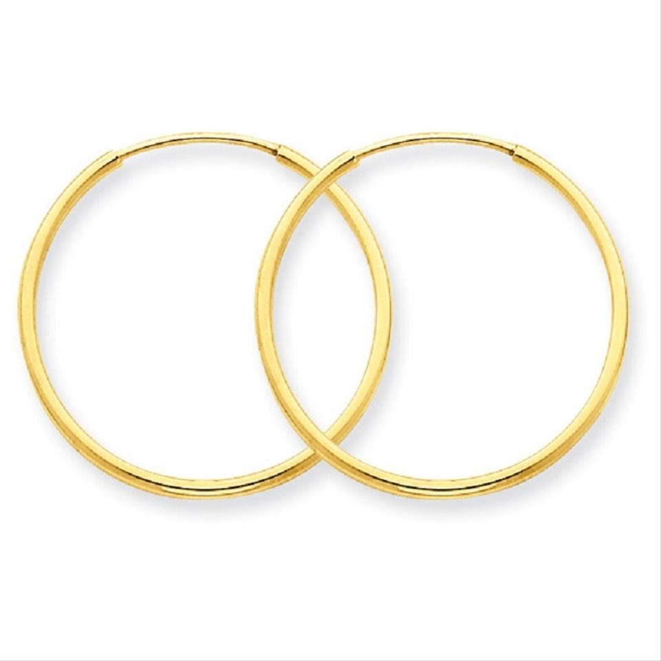Les Of Gold 1 3 16 14k Yellow Endless Hoop Earrings 37 Off Retail