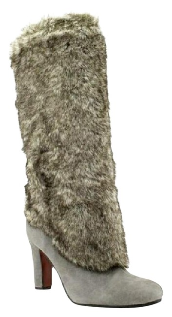 Item - Gray 'shalin' Leather Boots/Booties Size US 8 Regular (M, B)