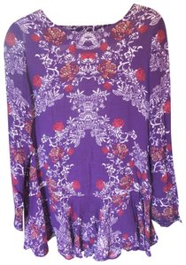 Free People short dress Violet with pattern on Tradesy