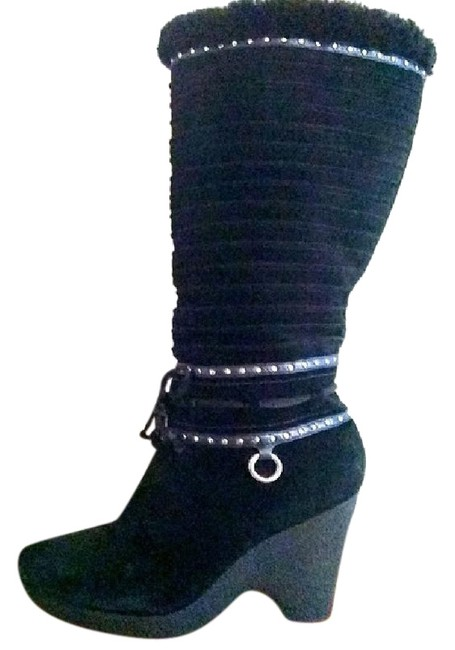 """Item - Black 'd20799"""" Suede Shearling Boots/Booties Size US 8 Regular (M, B)"""
