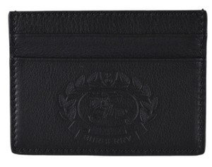 Burberry New Burberry $250 Black Leather Embossed Crest Card Case Wallet