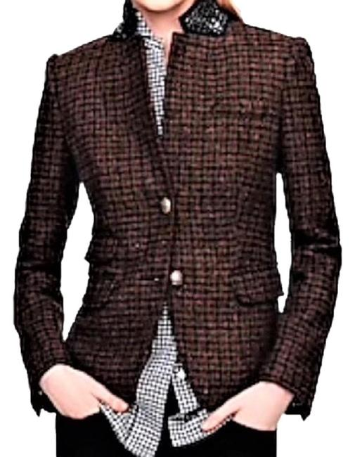 Item - Brown Tweed Schoolboy Beaded Collar Blazer Size 4 (S)