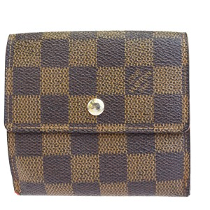 Louis Vuitton Authentic LOUIS VUITTON Elise Trifold Wallet Purse Damier Leather