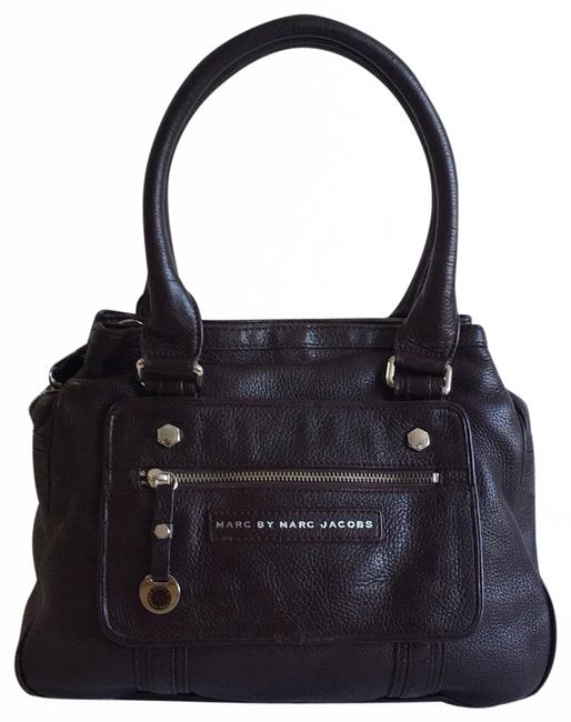 Item - 3 Compartments Brown Leather Tote