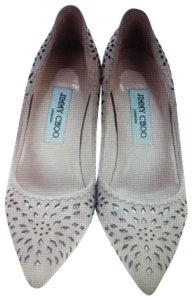 Jimmy Choo Beige and silver Pumps