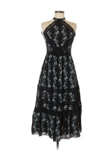 Black Maxi Dress by ERDEM x H&M Floral Embroidered Jacquard Gown