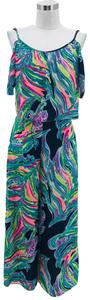 Lilly Pulitzer N959 LILLY PULITZER Designer Set Top Size 4 Small Pants Size 2 XS