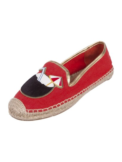Tory Burch Espadrilles Logo Coco RED Flats Image 2