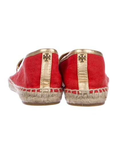 Tory Burch Espadrilles Logo Coco RED Flats Image 3