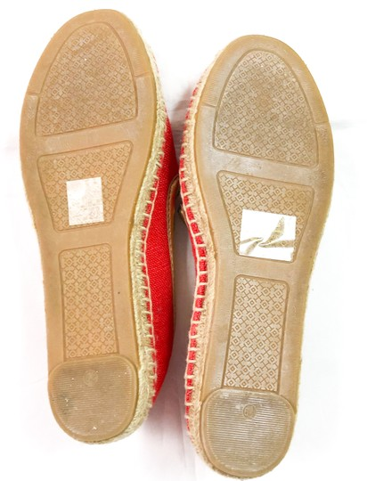 Tory Burch Espadrilles Logo Coco RED Flats Image 5