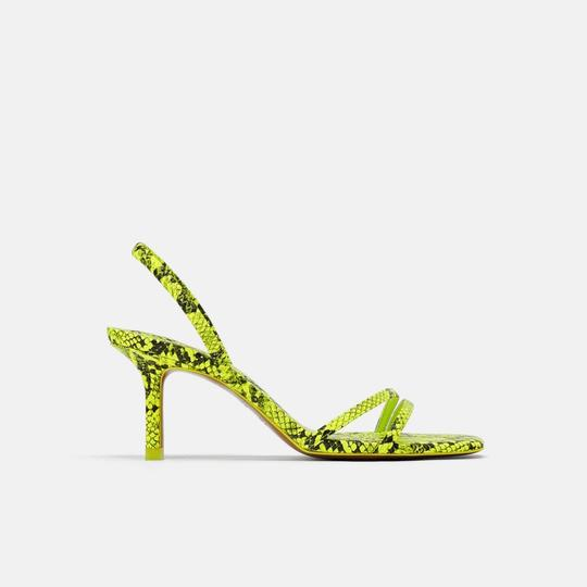 Zara fluorescent green Sandals Image 1