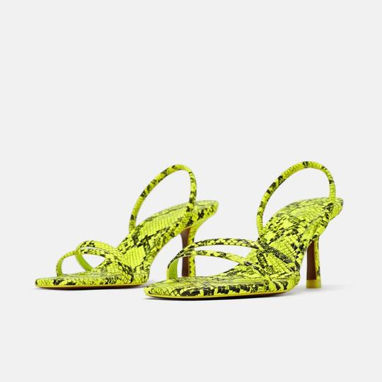 Zara fluorescent green Sandals Image 2