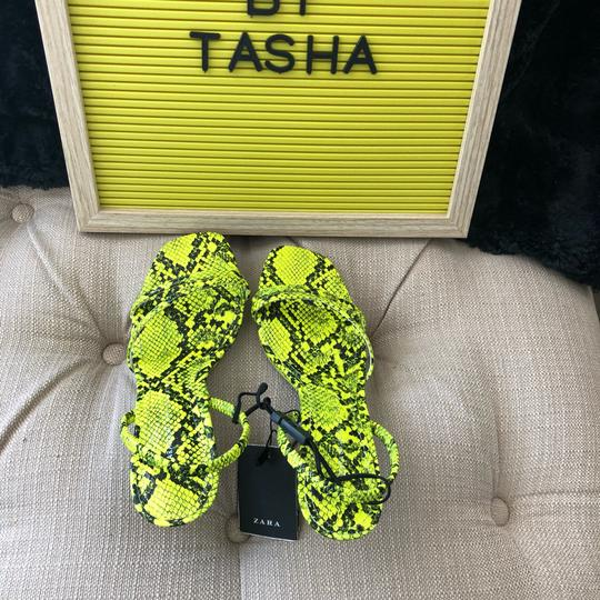 Zara fluorescent green Sandals Image 4