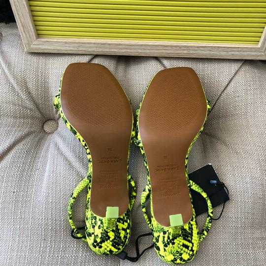 Zara fluorescent green Sandals Image 5