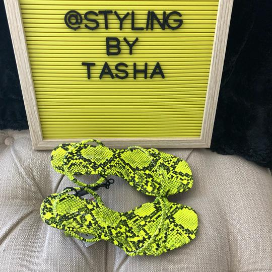 Zara fluorescent green Sandals Image 7