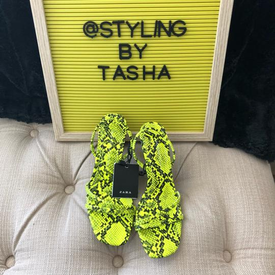 Zara fluorescent green Sandals Image 8