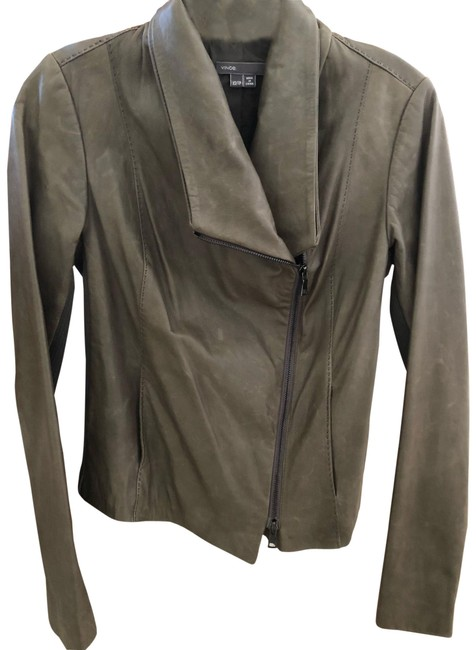 Item - Taupe/Mouse/Gray Scuba Stretch Cross Front Jacket Size 2 (XS)