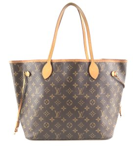 Louis Vuitton Lv Monogram Neverfull Tote Shoulder Bag