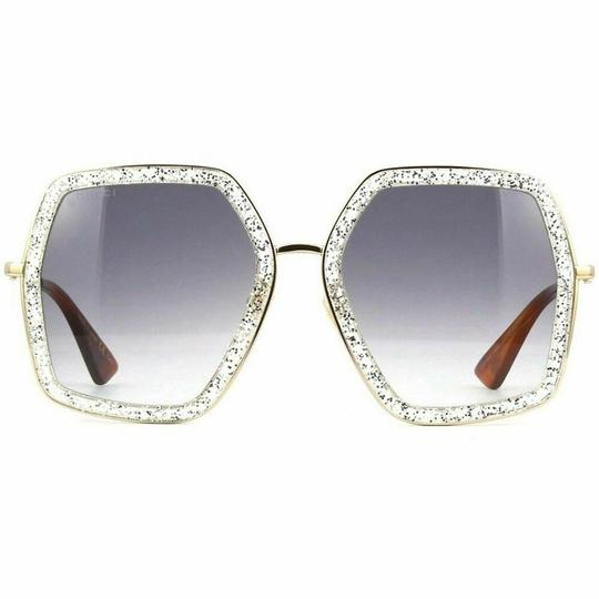 Gucci & Grey Gradient Lens Women's Oversized Sunglasses Image 1