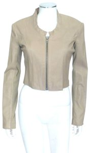 VEDA Tan Leather Jacket