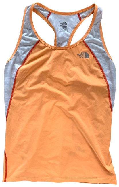 Item - Orange and White Like New Mesh Tank Activewear Top Size 4 (S)