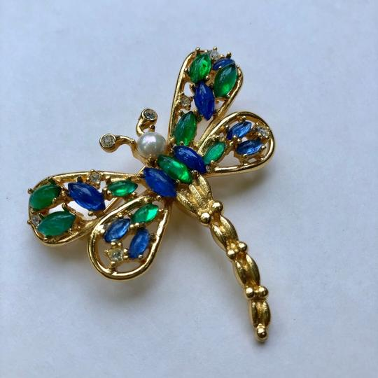 Dior Christian Dior butterfly vintage brooch pin Image 2