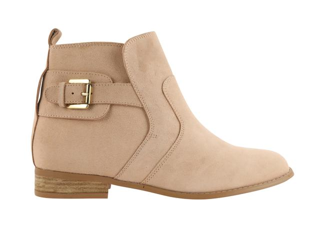 Item - Beige Leather Ankle Boots/Booties Size US 10 Regular (M, B)