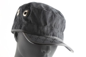 Gucci Gucci Guccisima Canvas Military Hat