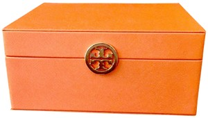 Tory Burch New Tory Burch Leather & Suede Keepsake Chest