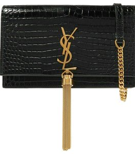 Saint Laurent Ysl Croc Shoulder Bag