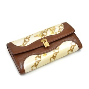 Louis Vuitton Louis Vuitton Monogram Charms Silk with Vinyl and Leather Wallet