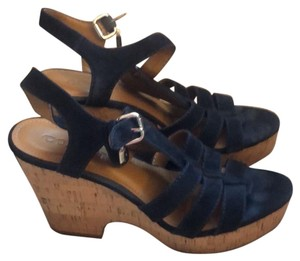 Coach navy blue Wedges