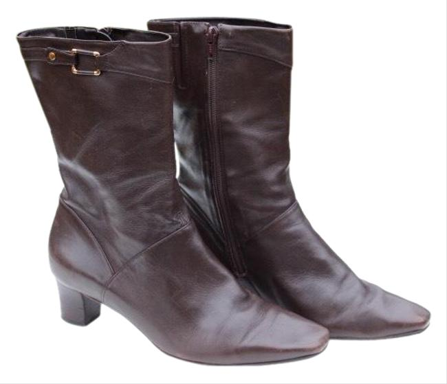 Item - Brown Leather Boots/Booties Size US 8.5 Regular (M, B)