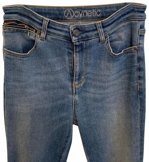 Item - Blue Light Wash High Wasted Stretch Straight Leg Jeans Size 4 (S, 27)