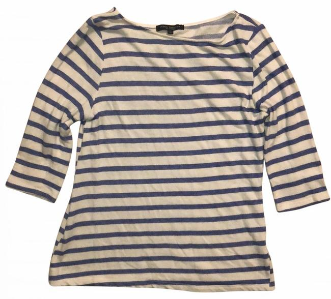 Item - Blue and Ivory Striped Tunic Size 4 (S)