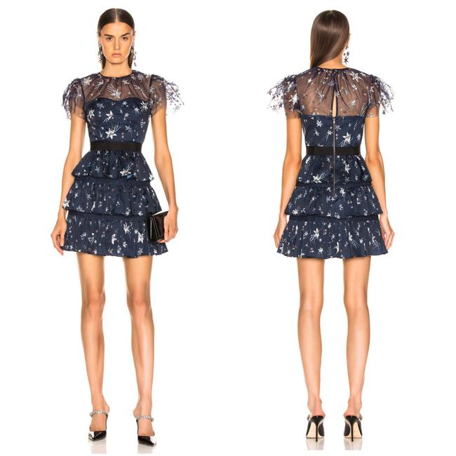 Preload https://img-static.tradesy.com/item/25926666/self-portrait-navy-2019-tiered-star-mesh-printed-mini-short-cocktail-dress-size-6-s-0-0-650-650.jpg
