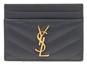 Saint Laurent quilted leather card holder ghw