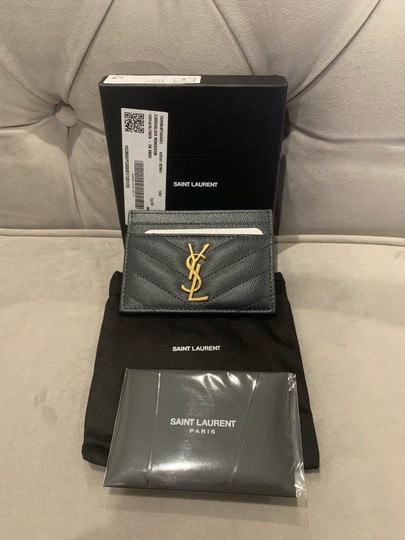 Saint Laurent quilted leather card holder ghw Image 1