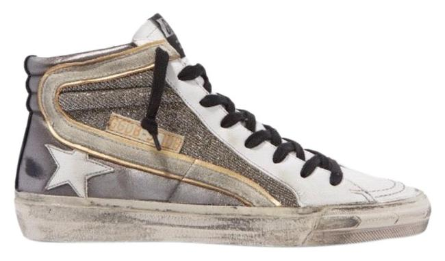 Item - Slide Distressed Leather High Top Sneakers Size EU 37 (Approx. US 7) Regular (M, B)