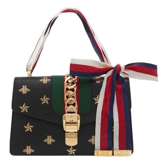 Preload https://img-static.tradesy.com/item/25926882/gucci-shoulder-bag-sylvie-small-chain-bow-embroidered-leather-black-satchel-0-1-540-540.jpg